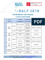 Calendrier Delf Dalf 2018 2