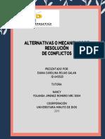 Alternativas o Mecanismos de Resolución de Conflictos 1
