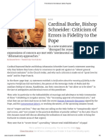 Criticism of Errors is Fidelity to the Pope