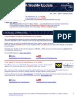 EdUSA Weekly Update No 205 -- 15 November 2010