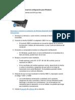 ELM327 Bluetooth Manual de Configuración Para Windows