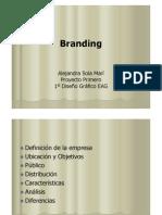 Branding. Alejandra Sola. Proyecto Primero