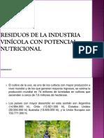 Residuos de La Industria Vinícola Con Potencial Nutricional