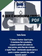 Lição 1 - Mordomia Cristã