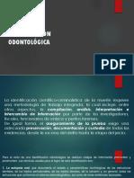 AUTOPSIA IDENTIFICACIÓN ODONTOLÓGICA