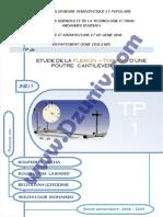 TP RDM - Etude de la Flexion et Torsion d'une Poutre Cantilever  _ TP1 + Compte Rendu _ - Résistance des Matériaux 6418.pdf