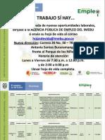 Ofertas de Empleo Intermediacion 5 de Noviembre de 2019 Imebu
