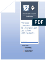 PROCESO CONSTRUCTIVO DE LA RESIDENCIA DEL SEÑOR JOSE PALACIOS