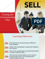 Chapter 7 - Making the Sales Call Creating & Communicating Values