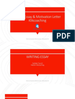 Modul Essay & Motivation Letter Klikcoaching