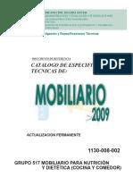 Mobiliario Para Cocina y Comedor Fichas Tecnicas Documento de Referencia Imms