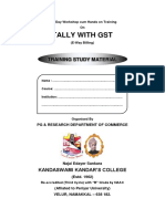 Tally and GST