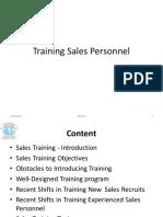 2. Training Sales Personnel
