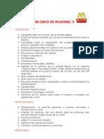 ANÁLISI DAFO DE MCDONAL