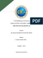 DISCIPLINAS FILOSOFICAS EN EL PERU