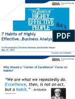 7 Habits of Highly Effective Business Analysts IIBA May 2015 (DRAFT)