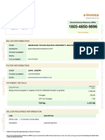 Example for Log book Receipt