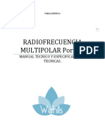 Radiofrecuencia Multipolar Portatil