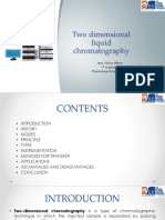 Two Dimensional Liquid Chromatography