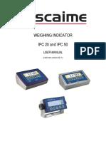 Weighing Indicator Ipc20 and Ipc50 User Manual