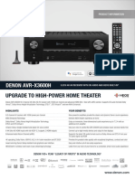 D AVR-X3600H Product Information Sheet