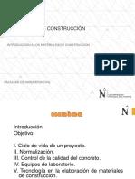 Semana 1 - Introduccion - Materiales de Construccion