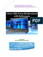 Cs101.. Mid Term Solved Mcqs With References by Masoom Fairy (Virtualustaad.blogspot.com)