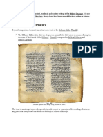 Hebrew Literature