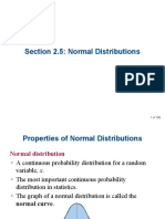 Normal Distribution Pp t