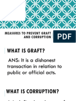 Measures to Prevent Graft and Corruption