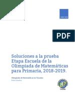 Soluciones Olimpiadas Primaria México