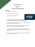 BE &CSR Assignment