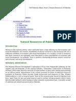 CSS Pakistan Affairs Notes _ Natural Resources of Pakistan