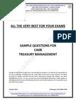 Treasury Management Sample Questions Dec 18 Exams