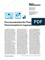 Preconcentration for Trace Element Determination in Aqueous Samples