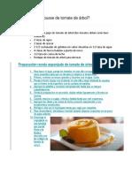 Cómo Hacer Mousse de Tomate de Árbol