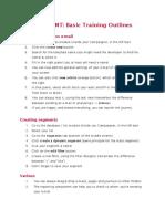 Basic Training Outlines