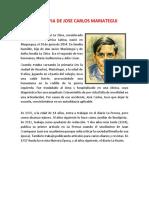 Biiografia de Jose Carlos Mariategui