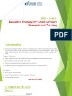 IFRS – IndAS-Executive Training By CARE Advisory Research and Training