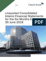 Cs International 2019 Interim Report