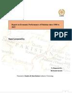 Economic Performance of Pakistan since 1990 to 2015