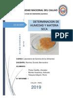 Laboratorio 1-Determinacion de Humedad
