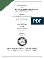 Environment Law Project Sem 4