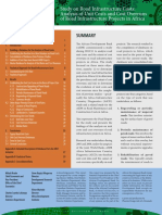 Study on Road Infrastructure Costs- Analysis of Unit Costs and Cost Overruns of Road Infrastructure Projects in Africa