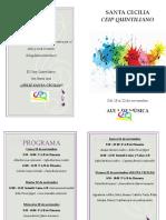 Programa de Mano Santa Cecilia Quintiliano