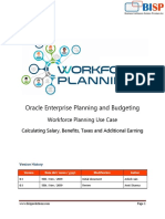 Oracle EPBCS Workforce Planning USE Case