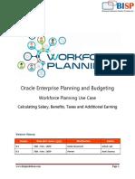 Oracle EPBCS Workforce Planning USE Case