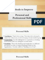 Personal and Professional Skills