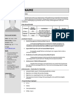 Free One Page Resume - Don't Forget to Register for Code Manthan