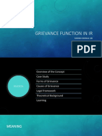 Grievance Function in IR